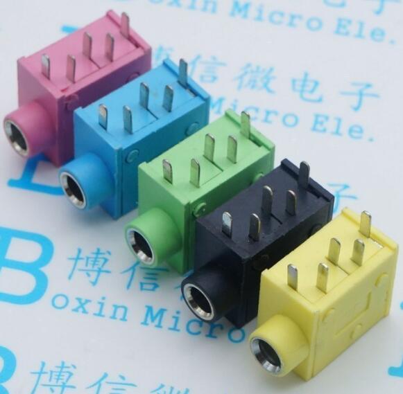 Free shipping100PCS PJ 215 PJ 325 3.5MM Headphone jack socket female ...