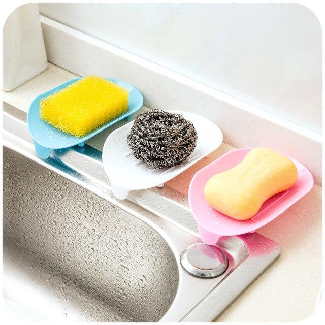 4 Farbe Seifenschale Seife Saver Ablageschale Bad Küche Trocknen Saubere Bad  Sammlung Platte Abwasser Sink Ablassen