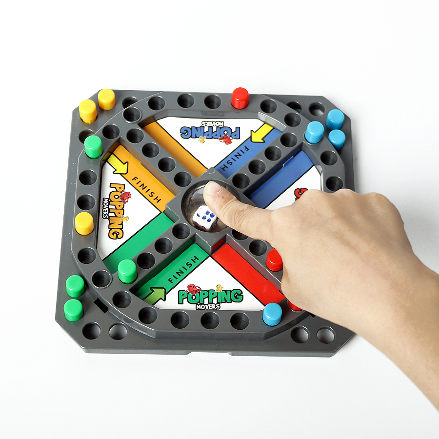 Classic Trouble Board Game Popping Movers Pop And Race Grab & Go Storing Family Party Game 2-4 Players Educational Toys For Kids