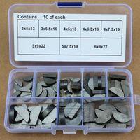 80pcs Woodruff Keys Assortment Kit Flywheel Pulley Crank