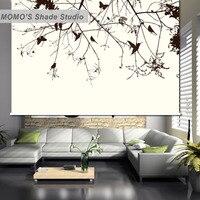 Momoブラックアウト花窓カーテンローラーシェードブラインド熱絶縁生地カスタムサイズ、アリス513