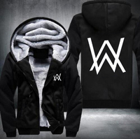 Winter Wool Keep Thickening Warm Hoodie Sportswear DJ Alan Walker Stars Loves Hoodie Logo JiaRong Fleece
