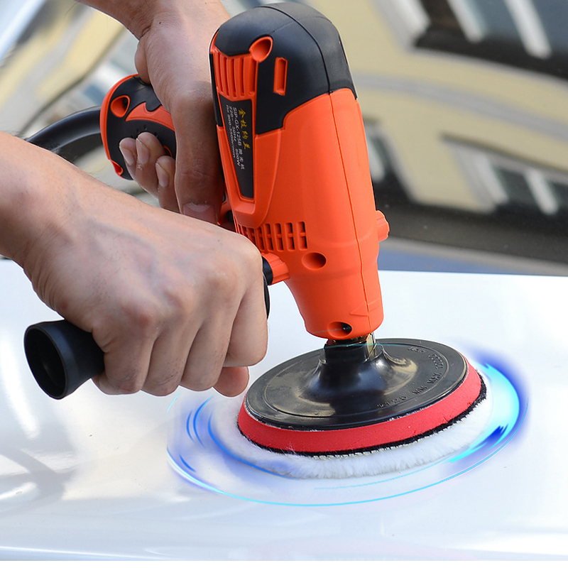 220v 800w Electric Car Polisher Waxing Machine Cleaner Paint Care Polish Machine With Six Speed Control Function