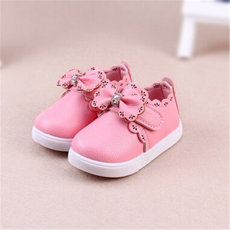 2016 Autumn New Children Shoes Red Bow kids Girl Shoes