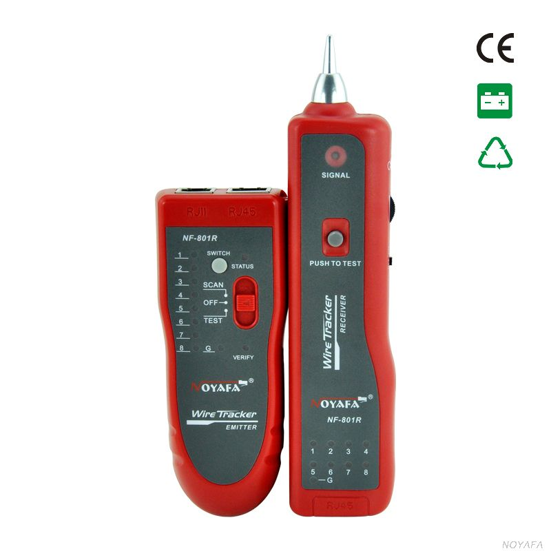 цена на NOYAF NF-801R Network Finder RJ11 RJ45 cable Wire tracker tracer toner network cable tester detector line finder