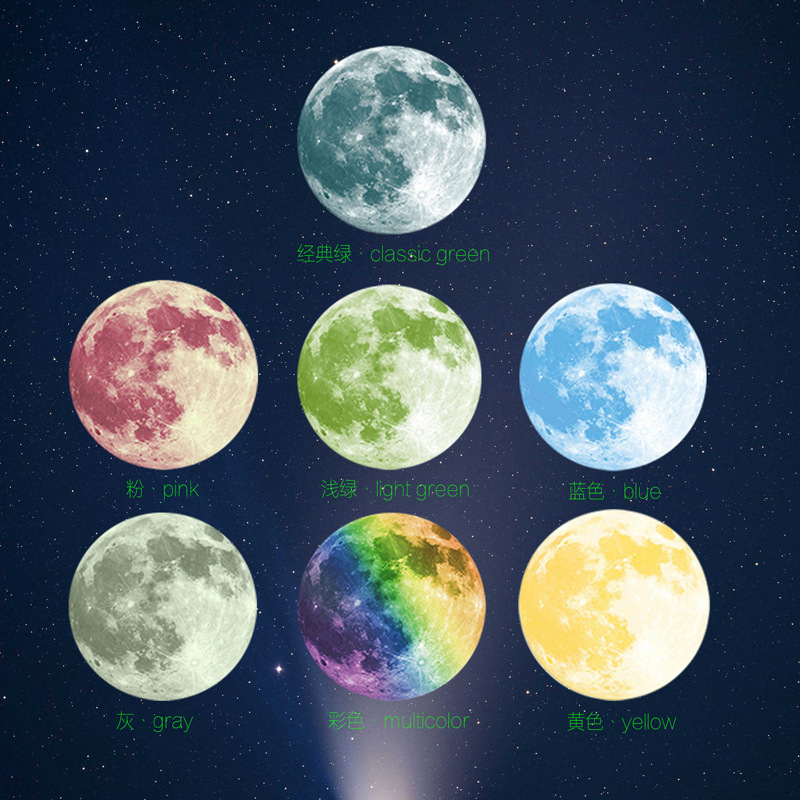 Decoration, Eco-Friendly, Home, Moon, Glue, With