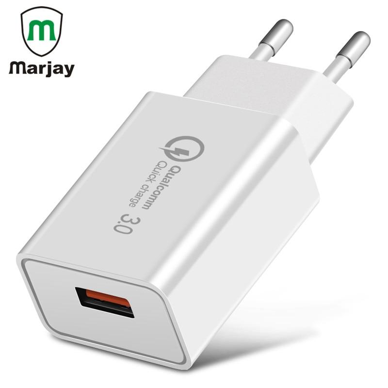 18 Вт Портативный ЕС Подключите USB Зарядное устройство Quick Charge 3,0 Fast Зарядное устройство QC3.0 QC2.0 адаптер для iPhone X samsung мобильный Зарядные устро...