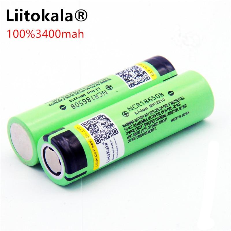 Liitokala New Original 18650 NCR18650B Rechargeable Battery 3400 MAh Li-ion 3.7V