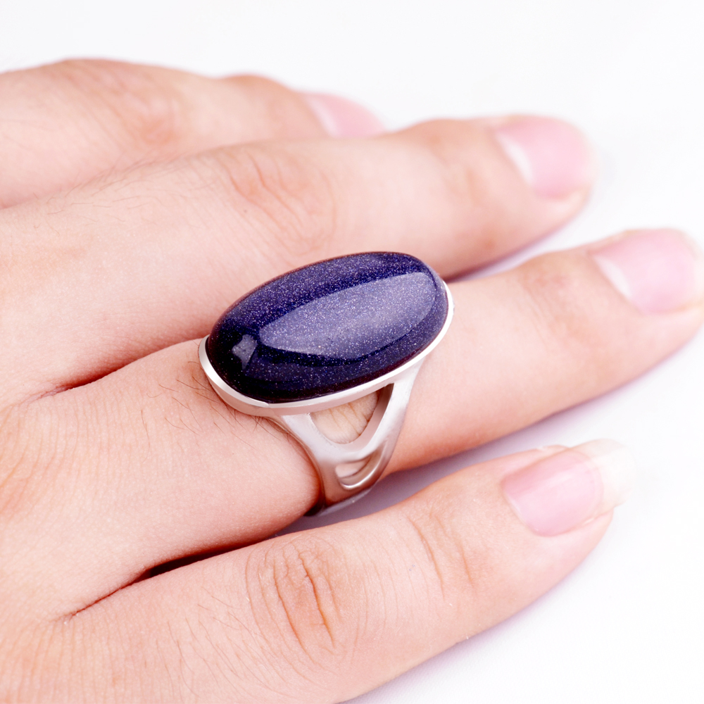 New bohemian style of simple colored oval gem rings Married couples ...