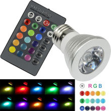 6W High Power E27 RGB LED Bulb Light 16 Color 85-265V 110V 220V Lampada Changing lamp spotlight with Remote Controller