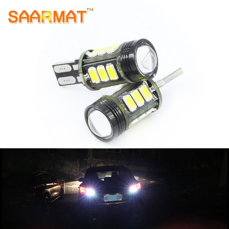 SAARMAT 2х Обратный бесплатный лампочка ошибки Т15 лампы w16w canbus автомобиля с Кри светодиодных чипов для Audi С4 С5 С6 С8 В5 В6 В7 В8 С4 С5 С6 С7 Д3 Д4