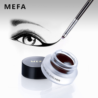 MEFA Smooth Eyeliner With Eye Makeup Brush Brown Black Matte Eyeliner Gel Waterproof Long Lasting Eyeliner