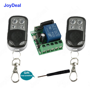 433Mhz Universal RF Wireless Remote Control Switch 1527 Learning Code Transmitter And Receiver Module For Electric Gate Door Key(China)