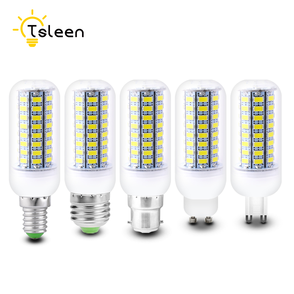 TSLEEN 10Pcs Ultra Bright LED Corn Bulb Lamp E27 E14 E12 G10 G9 B22 Light Bombillas No Flicker 5730 SMD 7W 9W 12W 15W 20W 25W ...