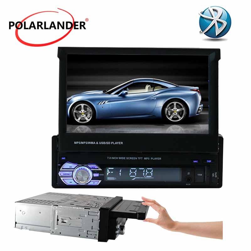 7'' Car Radio fast Bluetooth Touch Screen 12V 3 languages 1 Din USB/SD/AUX/EQ/FM/TFT steering wheel/remote control