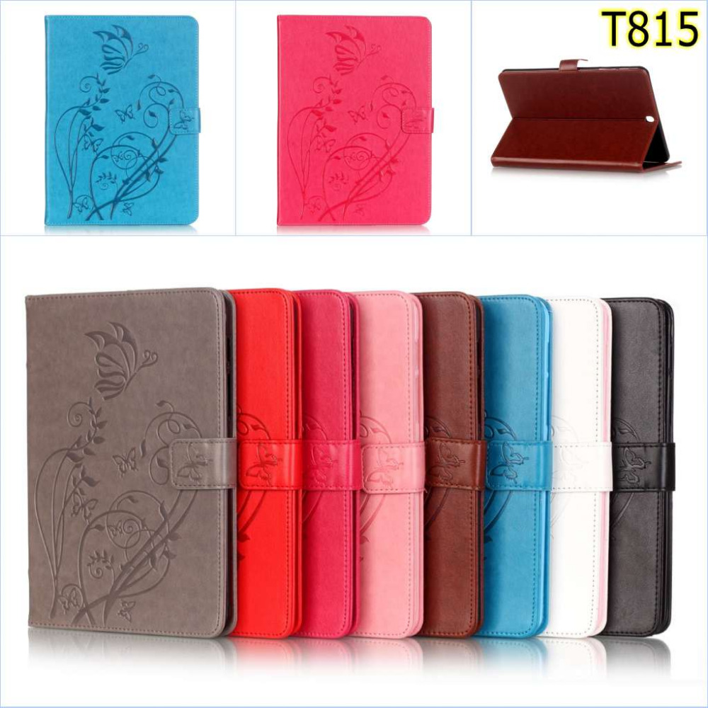 Wallet Case for Samsung Galaxy Tab S2 9 7 T810 T815 SM T810 Emboss Flower Card PU Leather Flip Stand Cover For Samsung T810 T815 in Tablets e Books Case from Computer Office
