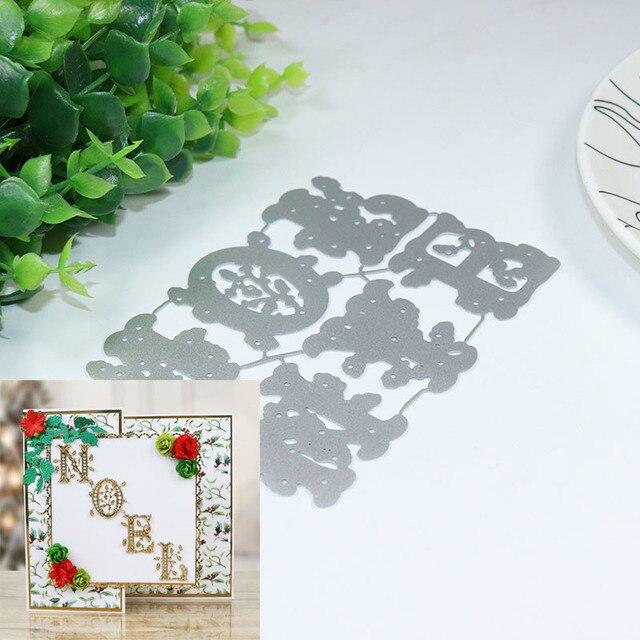 Diy Noel.Us 4 75 Joy And Noel Stencil Metal Cutting Dies For Diy Scrapbooking Paper Card Craft Embossing Dies In Cutting Dies From Home Garden On