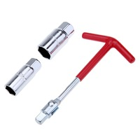 Shipping From UK Spark Plug Removal Wrench Tool T Handle T Bar Flexible Spanner Socket