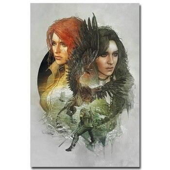 Шелковый плакат гобелен игра Ведьмак