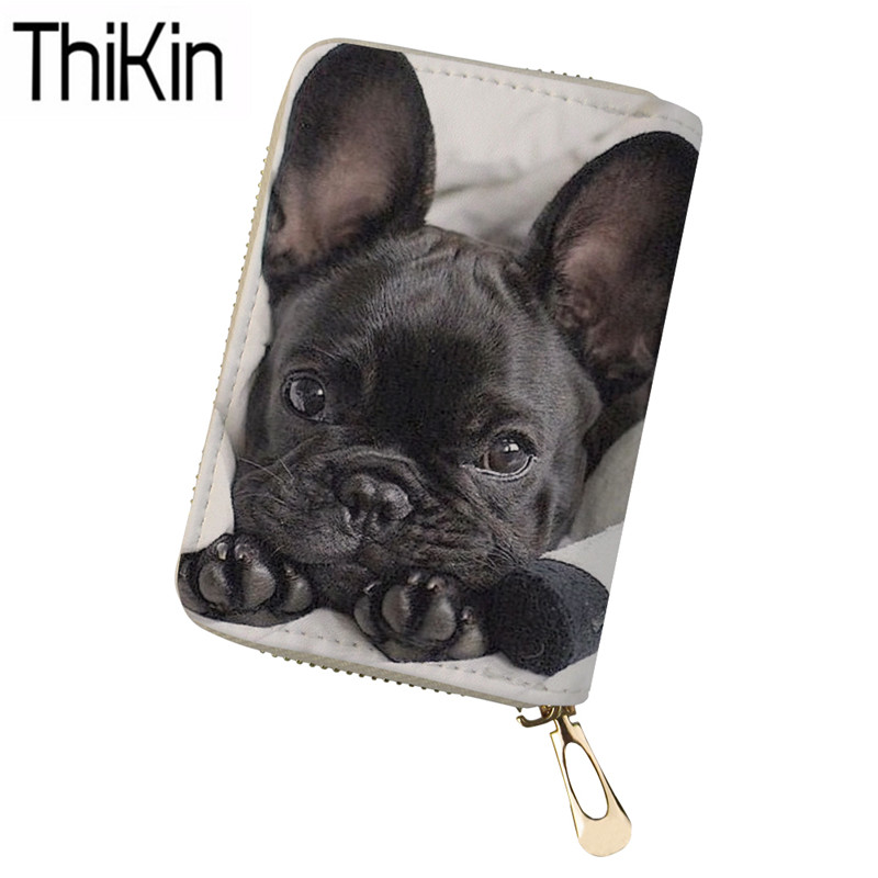 a1c8595fd67b Smirnoff Engraved French Bulldog Leather Wallet Men Cartoon Coin ...