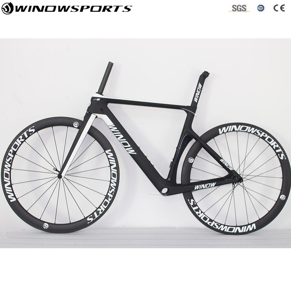2018 Aero vélo de route winow marque 700C carbone route vélo complet 22 vitesses 105 5800 groupe complet carbone route vélo complet