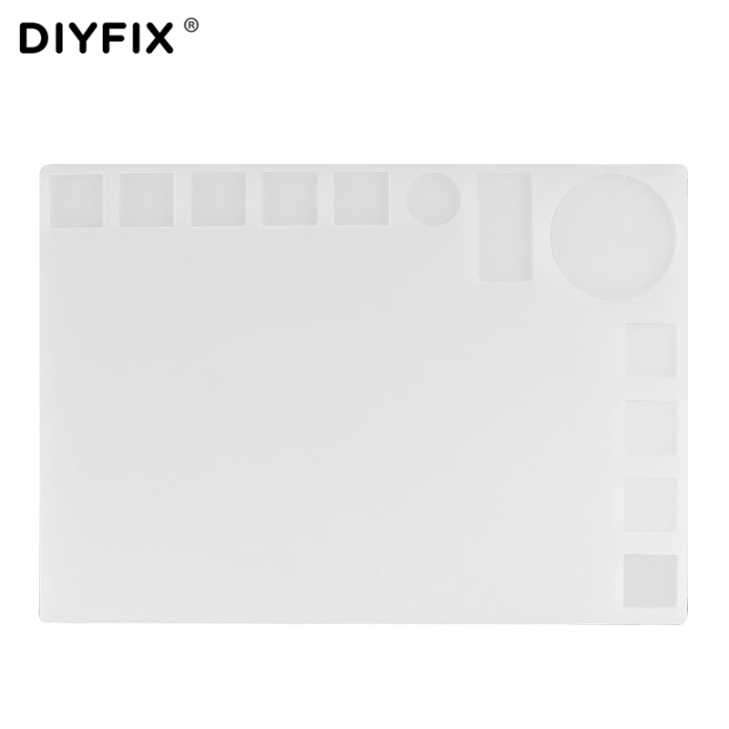 DIYFIX Heat Gun Phone BGA Soldering Station Insulation Silicone Pad 35x25cm Desk Mat Maintenance Platform for Computer PC Repair цены онлайн