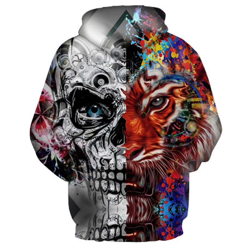 Skulls Tiger Hooded Hoodies Tracksuits 1