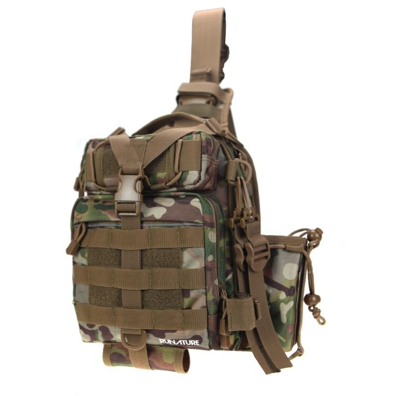 um ombro saco para caminhadas pesca cruz corpo ao ar livre sling saco