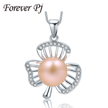 2016 Tremendous Prime High quality AAAA Pearl Pendant Necklace For Girlfriend 925 Sterling Silver Jewellery Pearl Dimension 10-11mm With Present Field