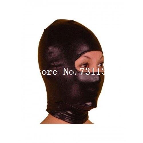 Горячая Хэллоуин забавная блестящая металлическая толстовка с капюшоном «zentai» унисекс маска - Цвет: Open Eye 1