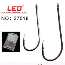 LEO 10pcs/pack high Carbon Steel Fishing Hook Fishhooks Durable Pesca Jig Head Fishing Hooks Flat head Carp Fishing Tackle