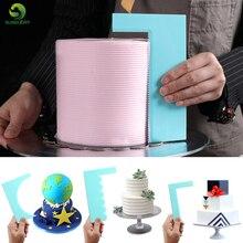 Моделирование Гладкий полировщик для торта Скребок Лезвия лопатки для теста кондитерские изделия ГРЕБЕНКА для глазури набор для выпечки инструменты для тортов DIY формы для выпечки