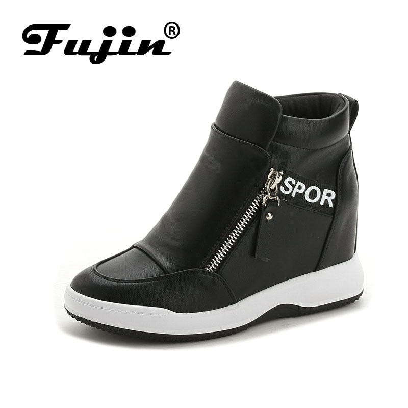 Fujin Brand Wedge high heels zapatos mujer Platform Heels ladies Canvas Shoes chaussure femme women school zapatos Casual Shoes hot new 2018 spring autumn wedges high heels ladies casual shoes vulcanize women slip on platform shoes female chaussure femme