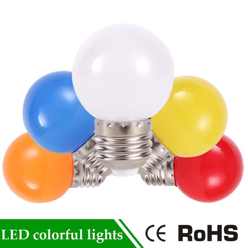 E27 <font><b>220V</b></font> Bombillas Energy Saving Lamparas 3W White Red Blue Green Yellow SMD <font><b>2835</b></font> Colorful Globe Light Bulb Home Decor Lighting