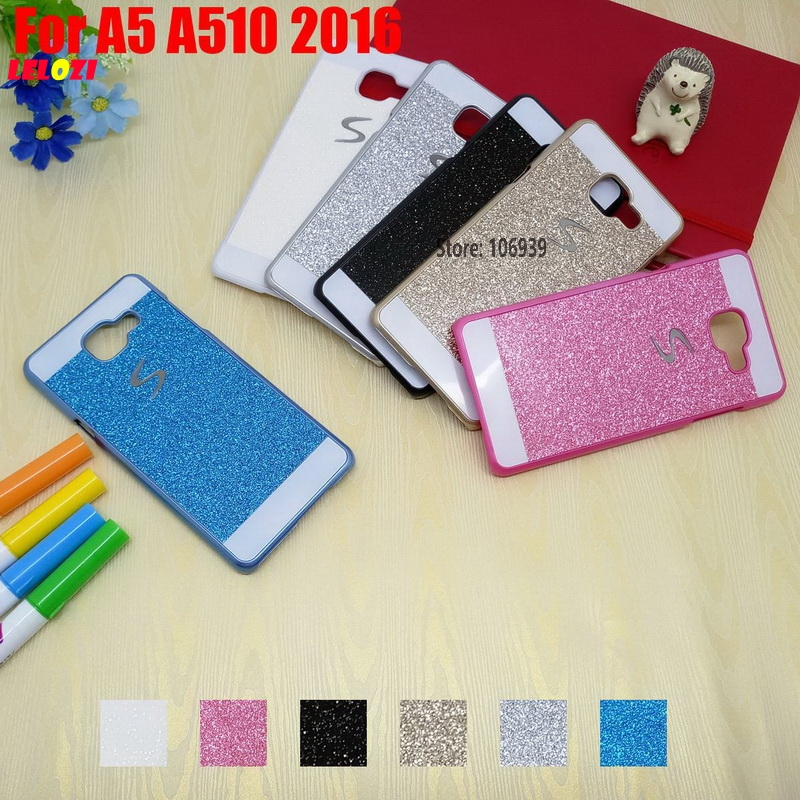 LELOZI Vintage Pretty Bling Shinning Glitter Hard PC Girl Capinha Etui Case Cover For Samsung Galaxy A5 A510 2016 A 510 White