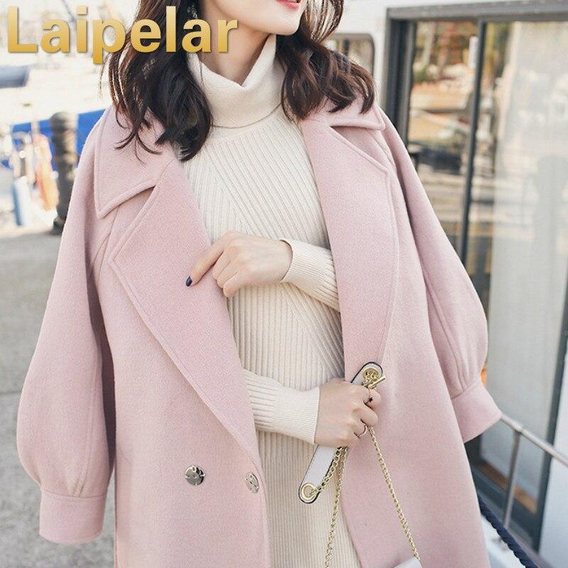 2018 Fashion Wool Blends Coats Ladies woolen Blazer suit jacket Autumn Winter long Coat Womens Outwear