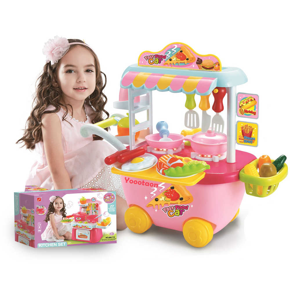 Fantasy Based Pretend Play Is >> Detail Feedback Questions About Pretend Play Kids Kitchen Cart Girls