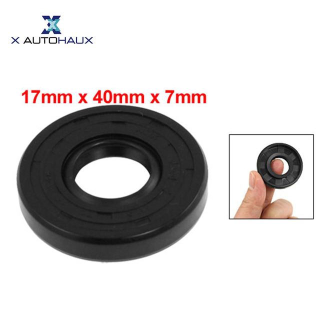 US $2 99 19% OFF|X AUTOHAUX Metric Rotary Shaft Oil Seal 17 X 40 X 7  17X40x7mm Tc Double Lipped-in Seals from Automobiles & Motorcycles on