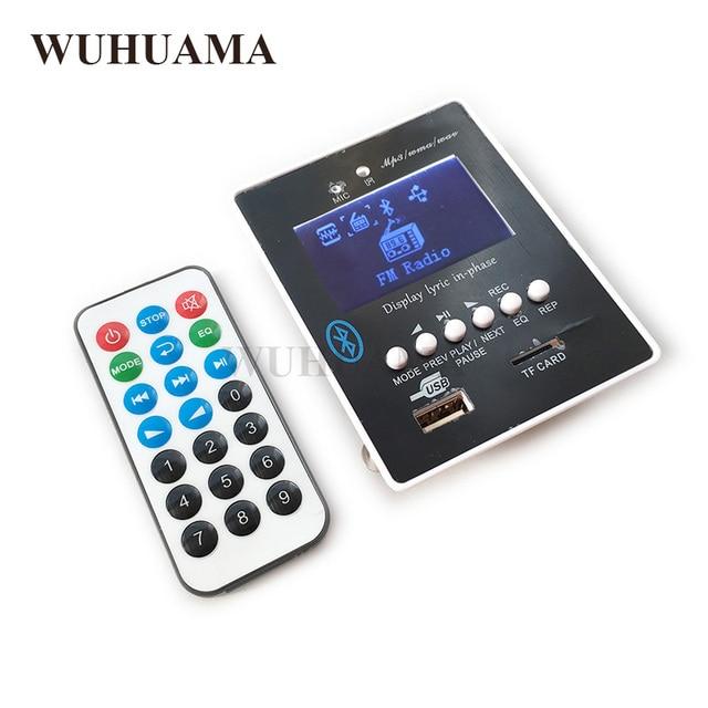 DIY Reproductor MP3 Player TF Card USB Decoder Module DC 12V WAV Lossless Decodering Board Bluetooth Blue LED FM Radio Car KIT