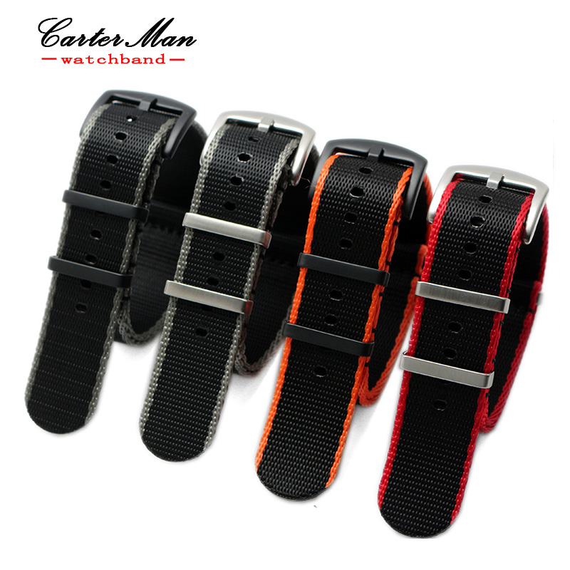 High Quality Nylon nato Watchbands 20mm 22mm Watch Sports
