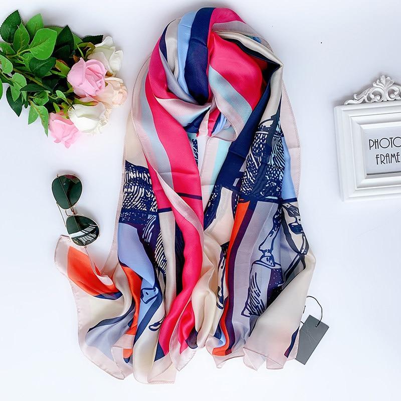 2019 Fashion Ladies Shawl Sunscreen Classic Beach Scarf Foulard Pareo Muffler Bandanna Women Silk Scarves Female Chiffon Wrap