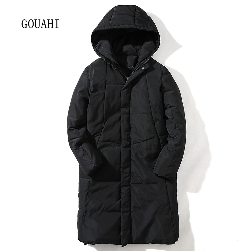 Long Parka Men Winter Jacket Hooded 2017 Fashion Solid Coat Mens Winter Parkas Thicking Warm Plus Size M-5XL High Quality hot sale men winter long cotton coat fashion plus cashmere thicker hooded parka high quality keep warm men jacket large size 2xl