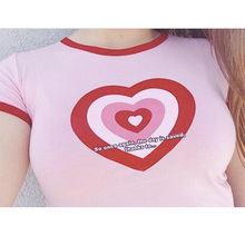 Pink Off The Shoulder Tops For Women Summer T shirt New Arrivals Cute Sexy Shirt O-Neck Hipster Harajuku Fashion Edgy