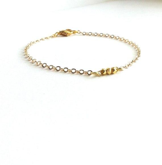 Delicate Gold Bracelet Thin Minimalist Jewelry Gift