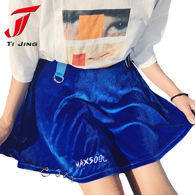 HTB1grlqSXXXXXaHXXXXq6xXFXXXo - summer high waist velvet trendy woman mini skirt PTC 187