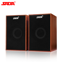 SADA Portable Wooden Combination Speaker Full Range Subwoofer PC Speaker USB Computer Speakers Loudspeaker for Laptop surround stereo wooden computer speakers home theater multimedia combination subwoofer usb port 2 1 laptop desktop loudspeaker