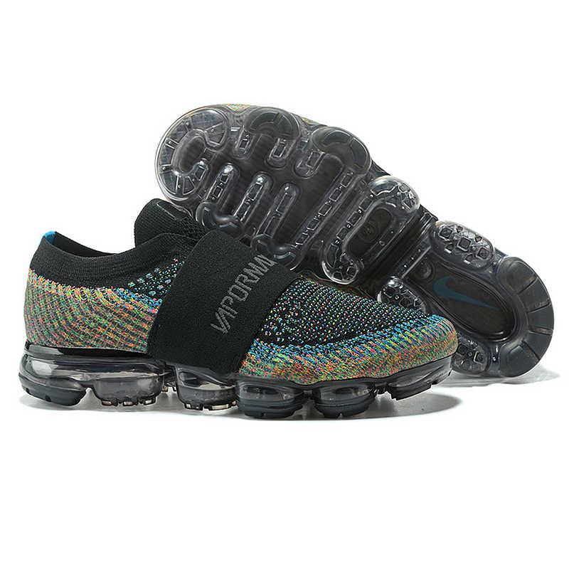 Ban đầu Xác Thực Nike Air VaporMax Mộc Rainbow Đệm Giày Chạy Thể Thao Sneakers Ngoài Trời Thoáng Khí bền AH3397