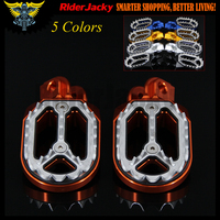 CNC Aluminum Orange Motorcycle Foot Rests Footrest Footpegs Pegs Pedals For KTM 250 SX EXC 1998