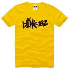 Punk Rock BLINK 182 Letter Printed Mens Men T Shirt Tshirt Fashion Summer New Short Sleeve Cotton T-shirt Tee Camisetas Hombre