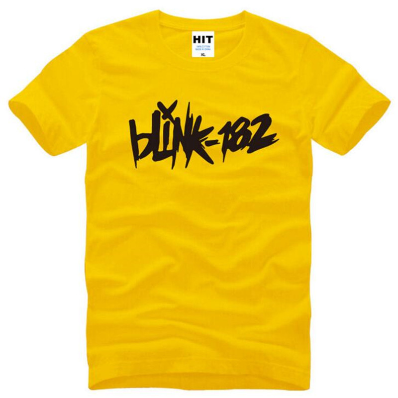 Punk Rock <font><b>BLINK</b></font> <font><b>182</b></font> Letter Printed Mens Men T <font><b>Shirt</b></font> Tshirt Fashion Summer New Short Sleeve Cotton T-<font><b>shirt</b></font> Tee Camisetas Hombre image